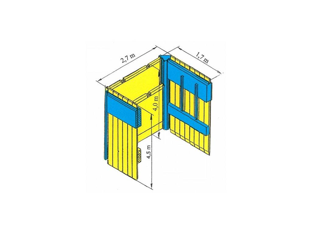 Stĺpové debnenie D. 2700 mm x V. 1700 mm x H. 4000 mm