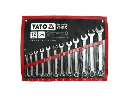 Sada kľúčov oskoplochých, 12ks, 8-24 mm, YATO