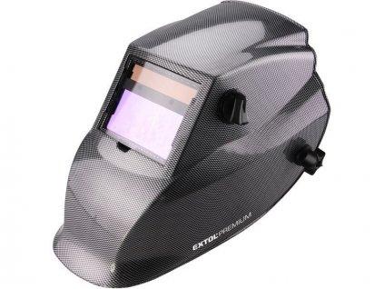 Kukla svářecí samostmívací, karbonová, 100x50mm, 1 / 25000s, EXTOL PREMIUM