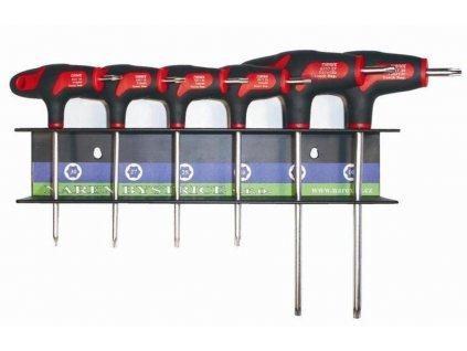 Sada skrutkovačov TX10,15,20,25,27,30 v stojane NAREX 851002