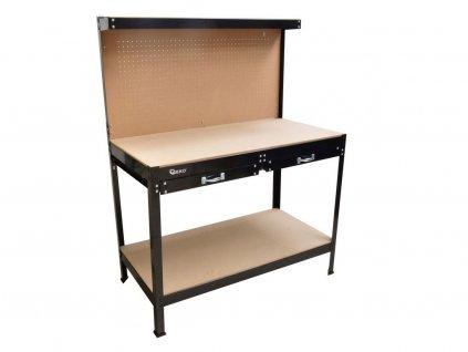 Pracovný stôl, nosnosť 100 kg, 2 poschodia, 1200x600 mm, GEKO