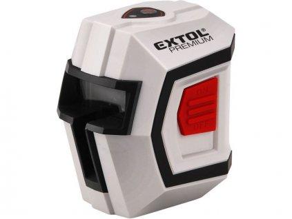 Laser líniový, krížový samonivelačné 1H1V, presnosť 0,5mm / m, rozsah l .: 10m, EXTOL PREMIUM