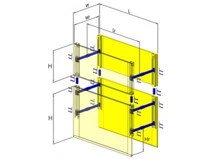 Box TYP 60 D. 2500 mm x V. 2000 mm s rozšírením