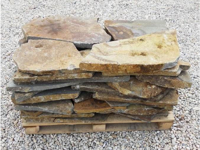 Šlapák andezit rezavo-hnědý 30-70cm, tl. 3-6cm