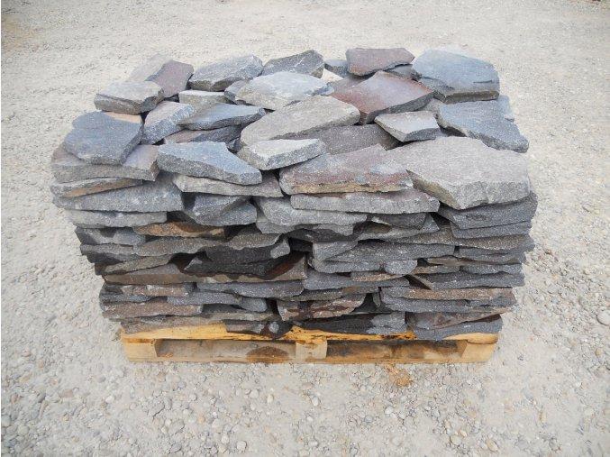 Andezit modrý kamenná dlažba tl.2-6cm