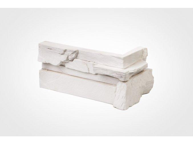 Rohový obklad imitace kamene Bastida bílá