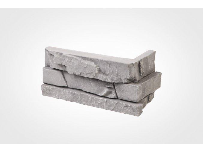 rohový obklad imitace kamene bastida šedá