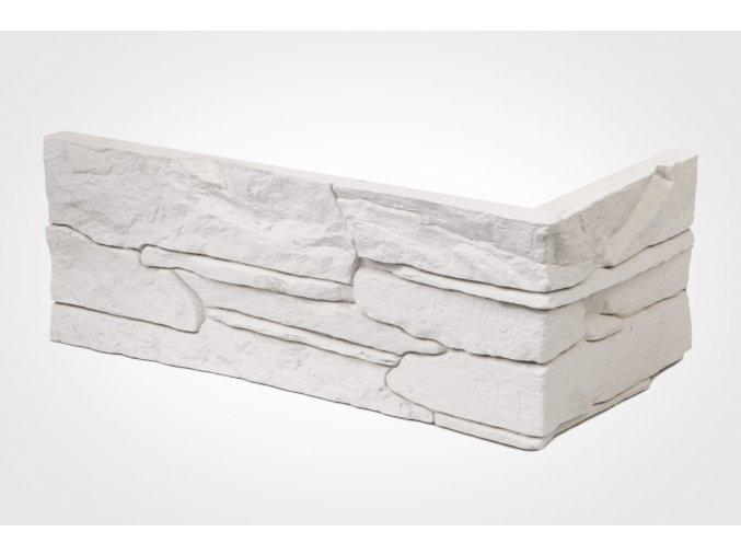 Rohový obklad imitace kamene Ronda bílá