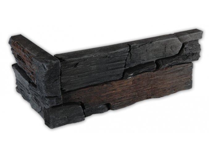 Umělý kámen - imitace Břidlice hradní šedá - roh