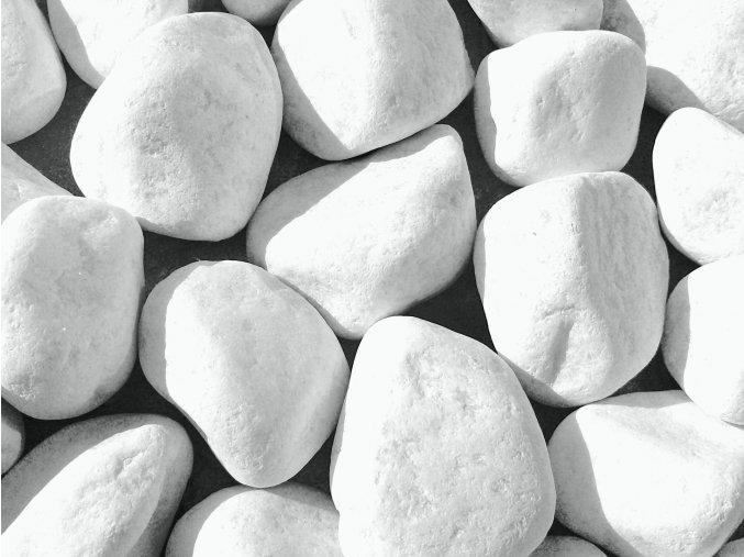 Dekorační oblázek mramor bílý 4-7cm