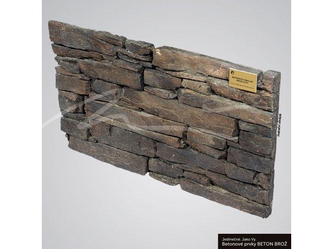 Obklad umělý kámen Alpy petrolejová - Brož