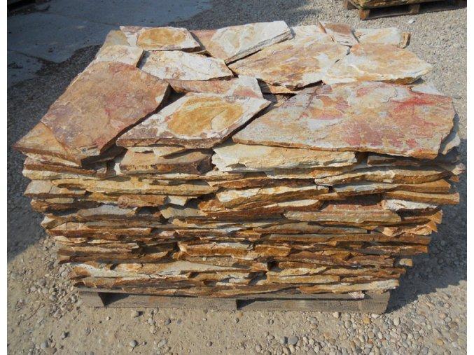 Rula fialová obklad 20-40cm, tl. 1-3cm