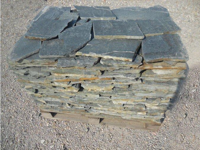 Kamenný obklad Rula zelená 20-40cm, tl. 1-3cm