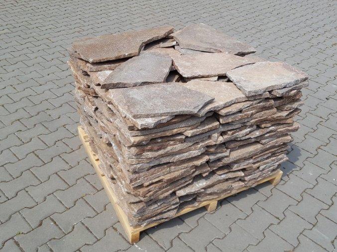 Obklad Porfyr nepravidelný tvar šedo-hnědý 1-3cm