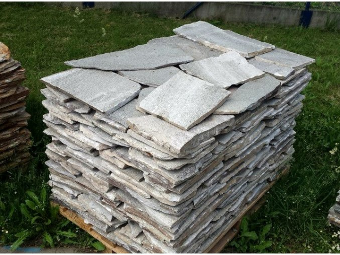 Rula bílá obklad 20-40cm, tl. 1-3cm