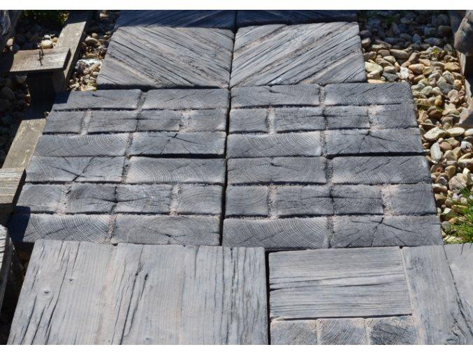 vesnická dlažba imitace dřeva
