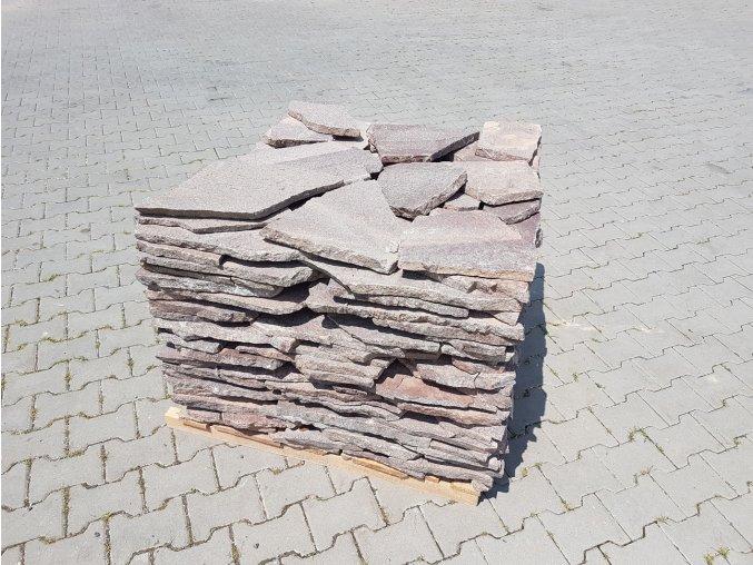 Obklad Porfyr nepravidelný tvar šedo-červený 1-3cm