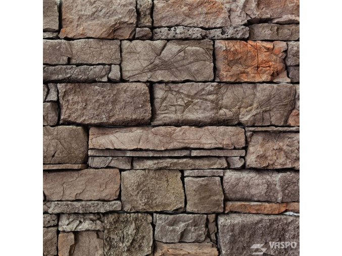 Obkladový kámen srubový hnědý Vaspo