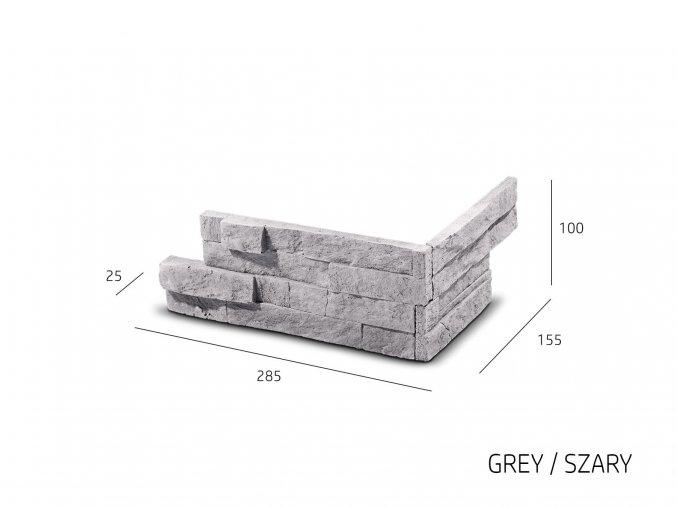 obklad imitace kamene Vertigo šedá Steinblau 1
