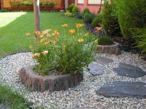 Květináč imitace dřeva velký 35cm