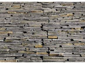 Kamenný obklad Břidlice černo - rezavá 55x15cm N3005