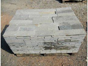 Kamenný obklad Rula bílá - obklad přírodní formátovaný v.10cm