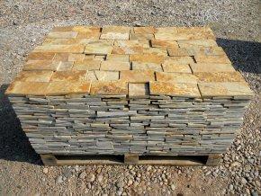 Kamenný obklad Rula žlutá - obklad přírodní formátovaný v.10cm