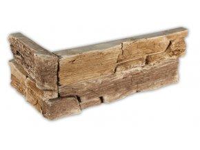 Umělý kámen - imitace Břidlice hradní béžovohnědá - roh