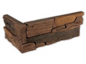 Umělý kámen - imitace Břidlice hradní hnědá - roh