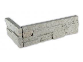 Kámen lámaný bílošedý - roh