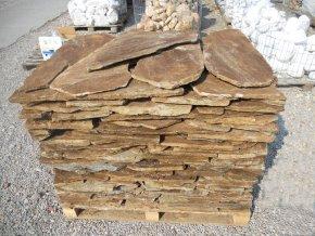 Kamenný obklad Rula hnědá obklad 20-40cm, tl. 1-3cm