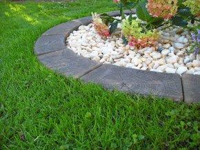 imitace dřeva trávníková obruba 5