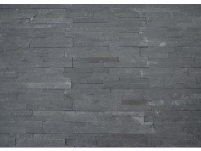 obklad břidlice černá pásky 36x10cm