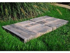 venkovská dlažba imitace dřeva 1