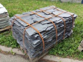 Kamenný obklad Břidlice černo šedá obklad/dlažba 10-50cm, tl. 1-3cm