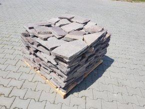 Porfýr dlažba kámen šedo červený