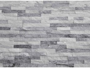 kamenný obklad kvarcit bílo šedý pásky
