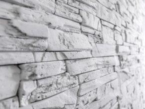 obklad imitace kamene Fasada bílá Steinblau
