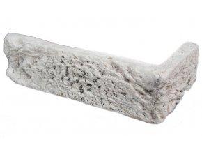 Rohový obklad cihla Hand Brick bílá Magicrete