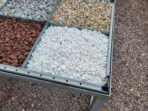 Drť mramor bílý 0,8-1,6cm 25kg