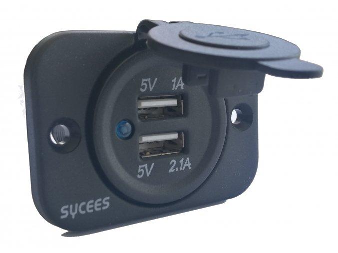 USB zásuvka pro dvě nabíječky
