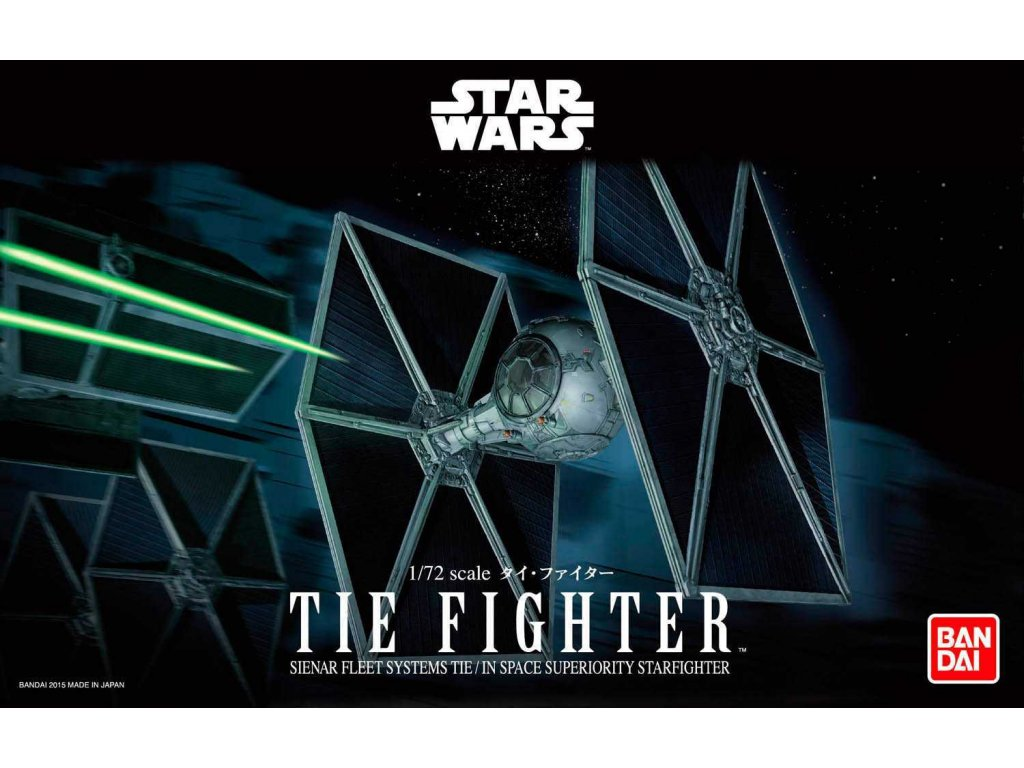 Plastic ModelKit BANDAI SW 01201 - TIE Fighter (1:72)