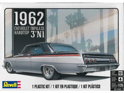 Plastic ModelKit MONOGRAM auto 4466 - '62 Chevy Impala 3 in 1 (1:25)