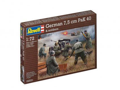 Plastic ModelKit military 02531 - German 7,5 cm PaK40 & soldiers (1:72)