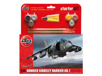 Starter Set letadlo A55205 - Hawker Harrier GR1 (1:72)