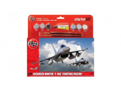 Starter Set letadlo A55312 - General Dynamics F-16A/B Fighting Falcon (1:72)