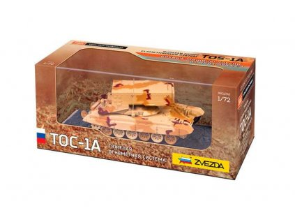 Built Up military 2501 - TOS-1A Russian Multiple Rocket Launcher (1:72)