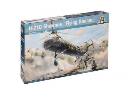 "Model Kit vrtulník 2733 - H-21C Shawnee ""Flying Banana"" (1:48)"