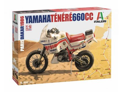 Model Kit motorka 4642 - Yamaha Tenere 660 cc Paris Dakar 1986 (1:9)
