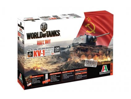 Model Kit World of Tanks 56505 - KV1 (1:56)